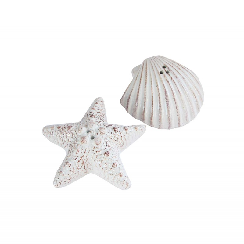 American Atelier Seashore Salt & Pepper Shakers, White