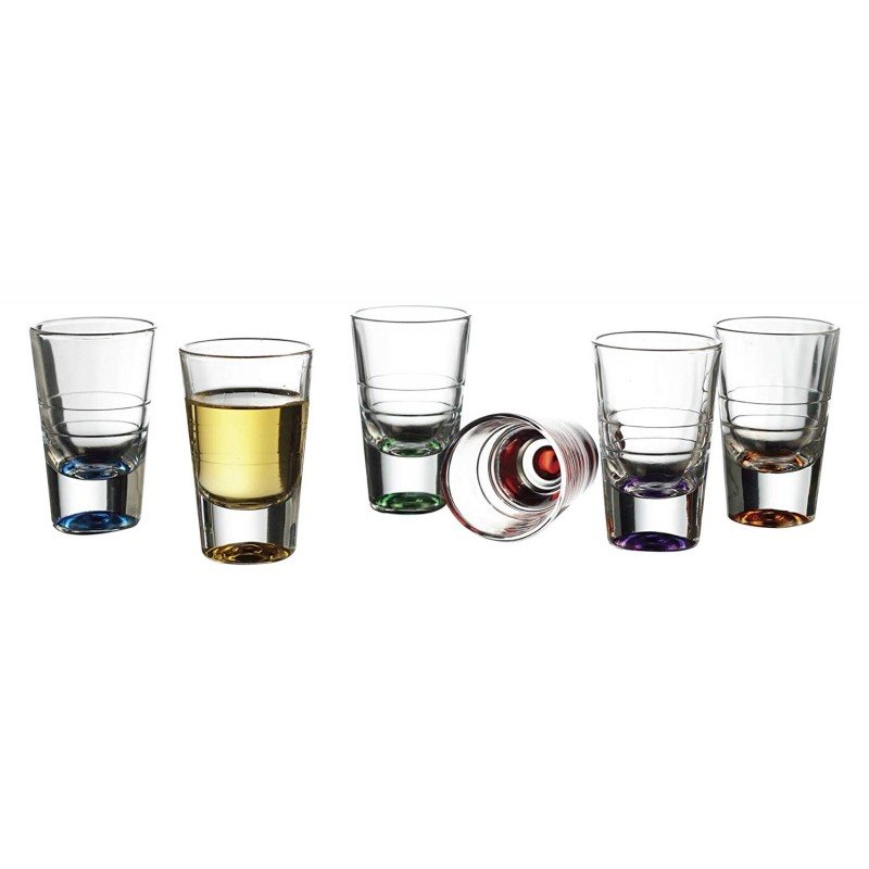 Style Setter Bentley Colors Shot Glasses (Set of 6), Multicolor