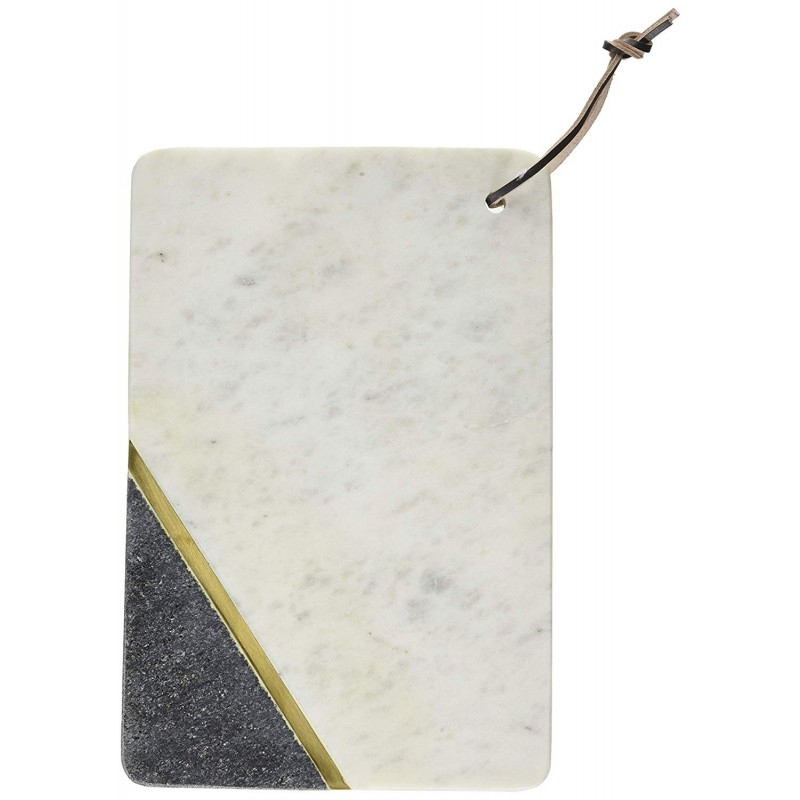 American Atelier Marble with Brass Cutting Board-White Sparkle