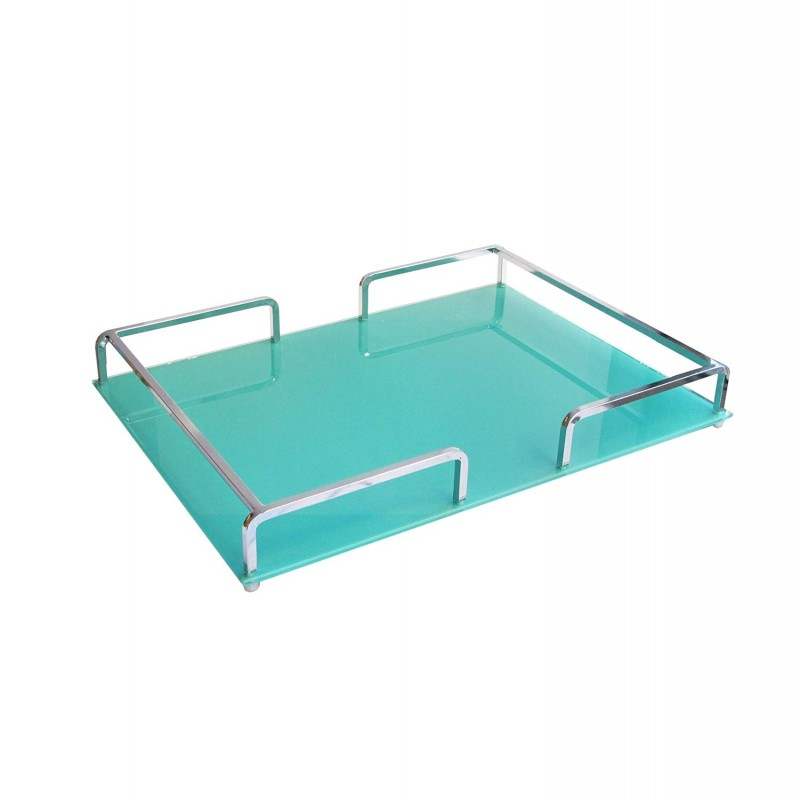 American Atelier 1330449 Rail Glass Rectangle Rail Tray