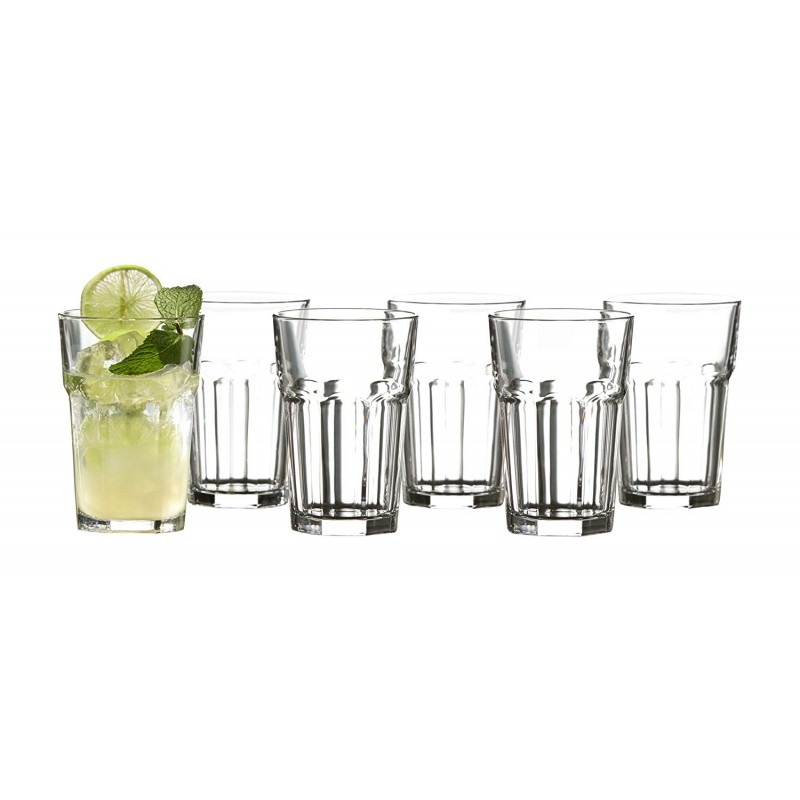 Style Setter Newport Highballs (Set of 6), Clear