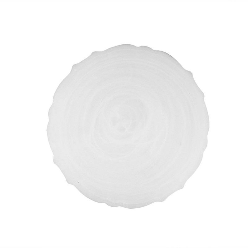ChargeIt by Jay Alabaster Scallop White Glass Charger Plate