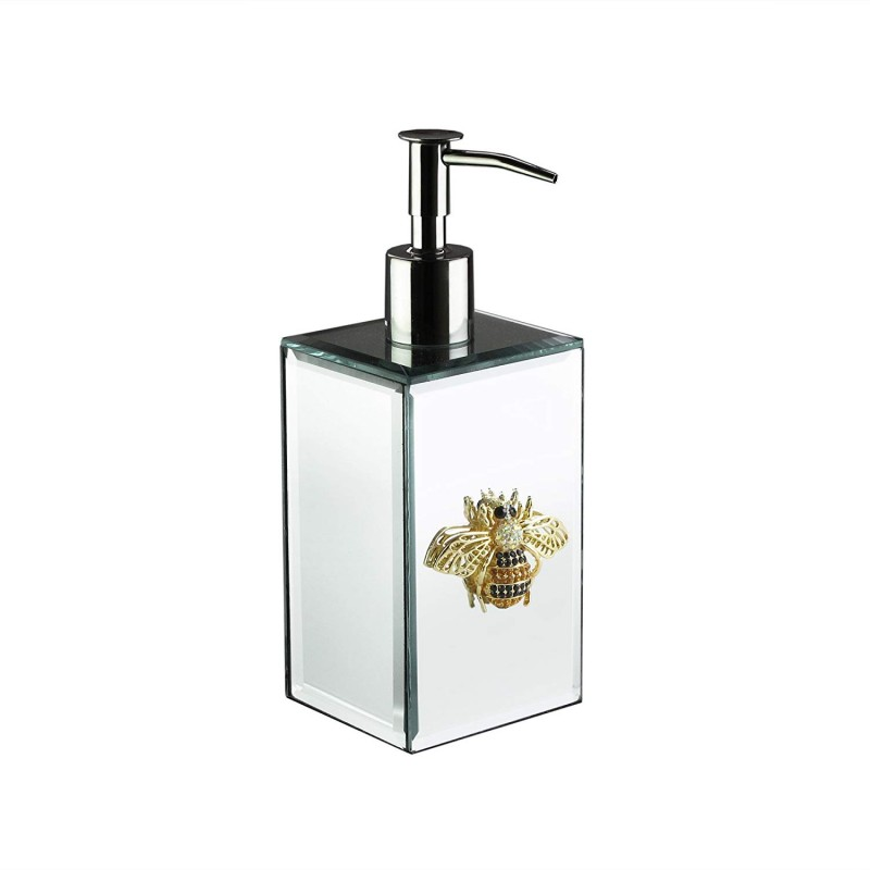 American Atelier Bumble Bee Brooch Soap Dispenser, Silver