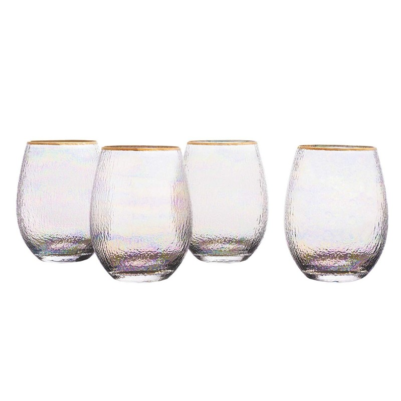 Elle Decor 229854-4ST Celine Stemless Goblets, 3.7x4.9, Gold