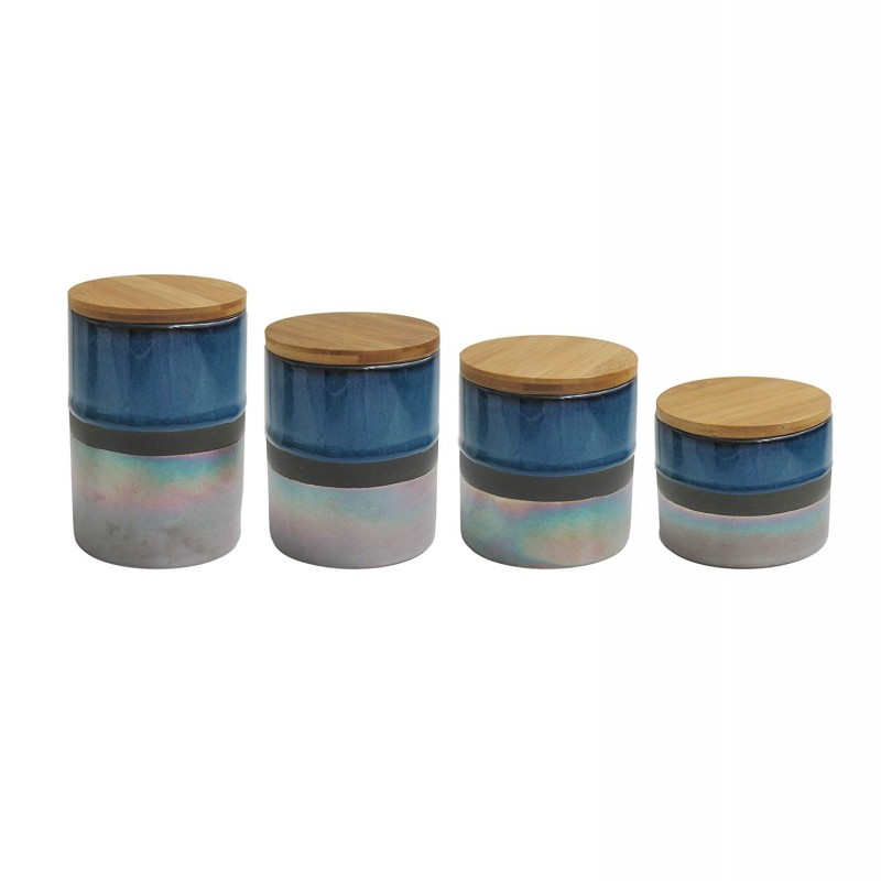 American Atelier 7009-CAN-RB Abingdon Canister Set, 17 x 4.2 x 8, Blue