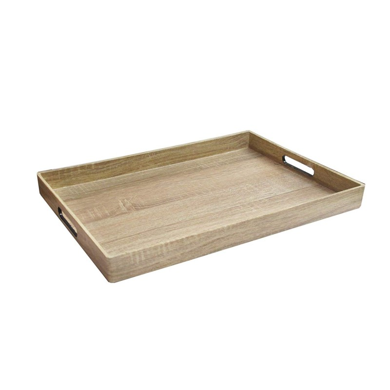 "American Atelier 1270513 Maple Wood Serving Tray, 14"" x 19"" x 2"", Brown"