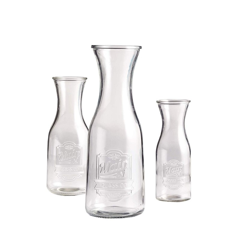 Style Setter Main Street Set of 3 Glass Milk Bottles