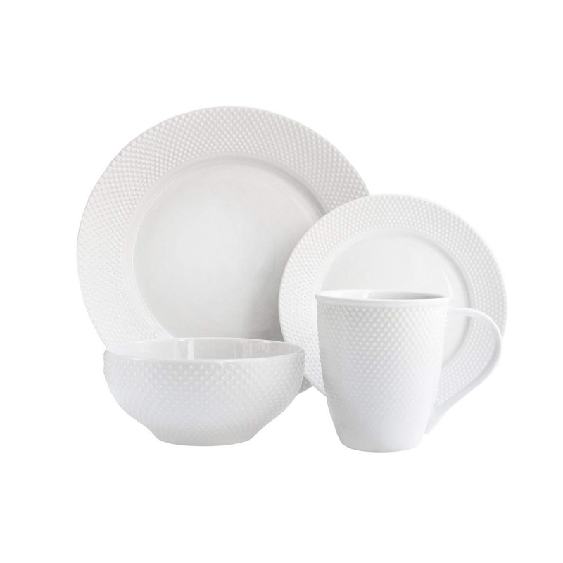 Elle Decor 6827-16-RB Chloe Dinnerware Set, White