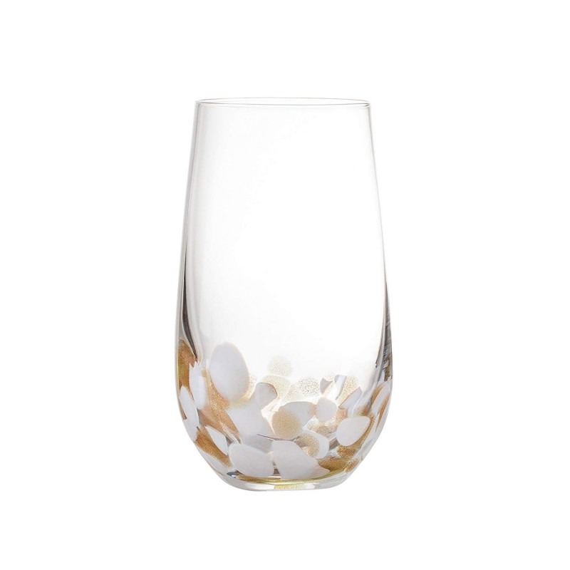 "Elle Decor 229491-4HB Simone Highball Set, 3"" x 3"" x 6"", White"