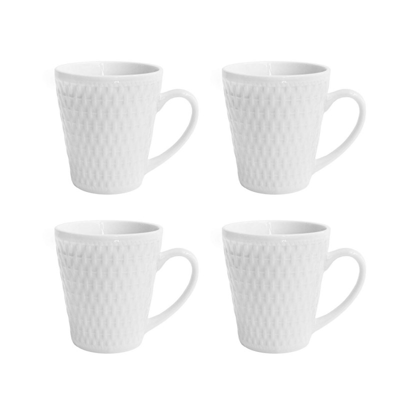 Elle Decor Juliette Set of 4 White Mugs