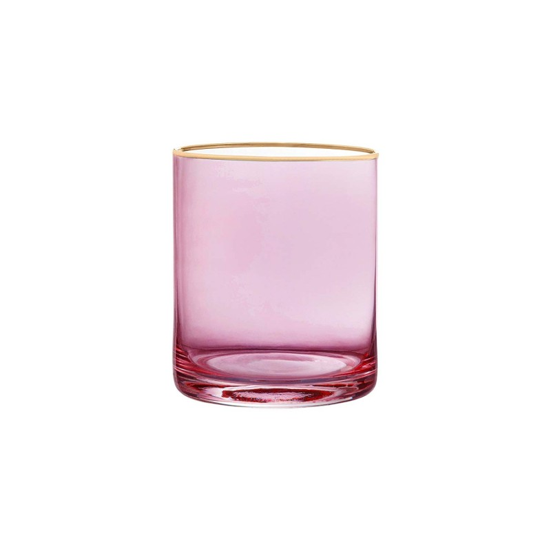 "Fifth Avenue Crystal 229350-4OF Vivienne Old Fashion Glasses, 3"" x 3"" x 3.8"", Rose"