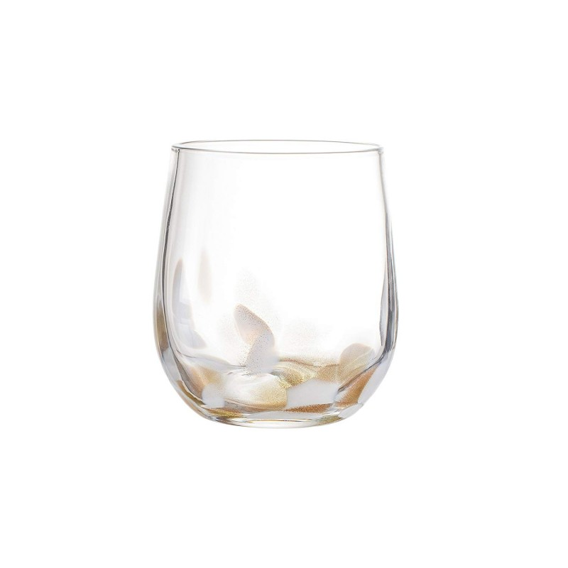 "Elle Decor Simone Stemless goblets, White, 3"" x 3"" x 4"""