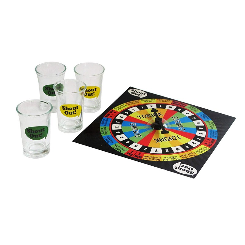 "Game Night Shout Out Shot Glass Board Game Set, 6.75"", Multicolor"