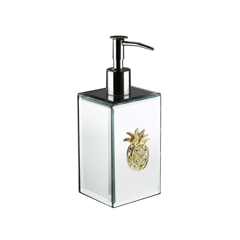American Atelier 1281329-LP Pineapple Brooch Soap Dispenser, Silver