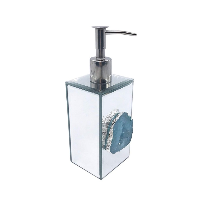 American Atelier Agate Lotion Dispenser, Silver