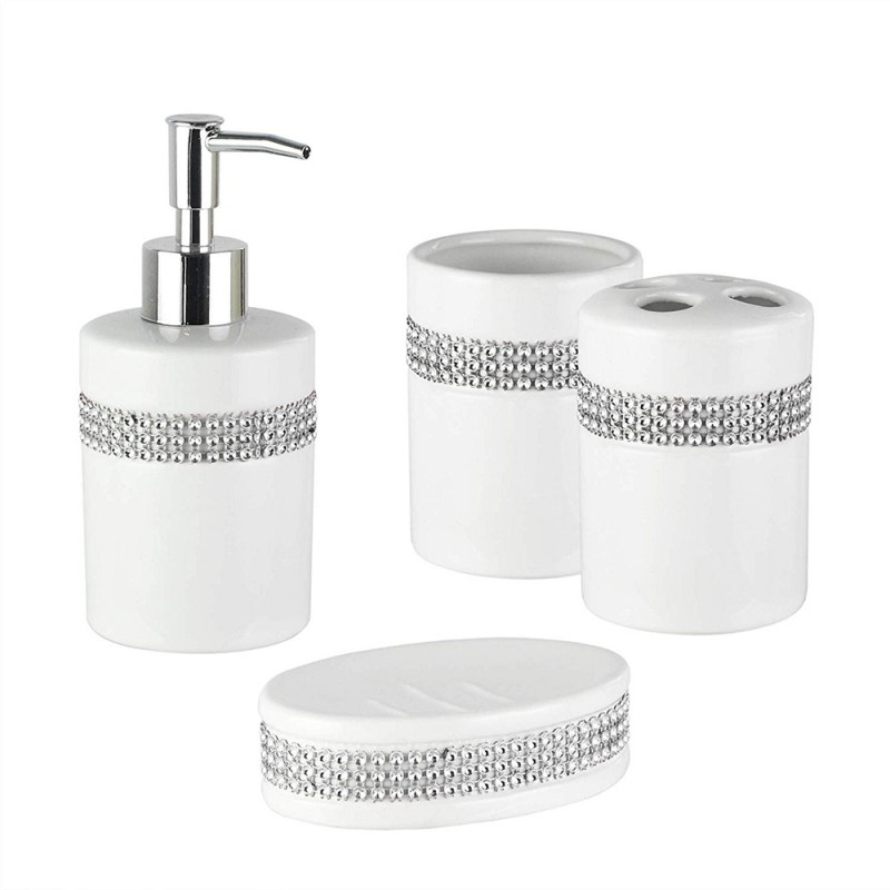 American Atelier Bath 1184529 4 Piece White 4 Piece Bathroom Accessory Set