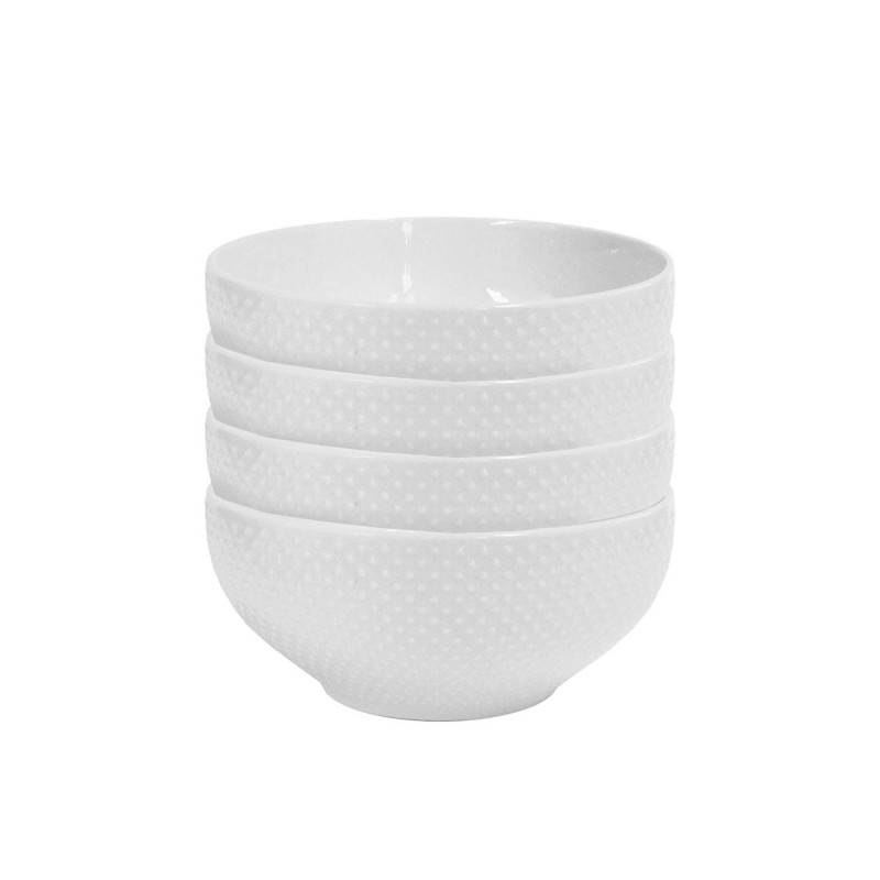 Elle Decor Chloe Set of 4 White Bowls
