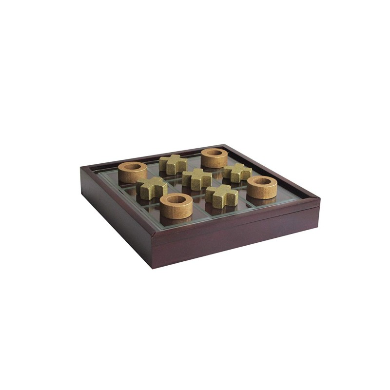 Elle Decor Elle Game Tic Tac Toe, Brown