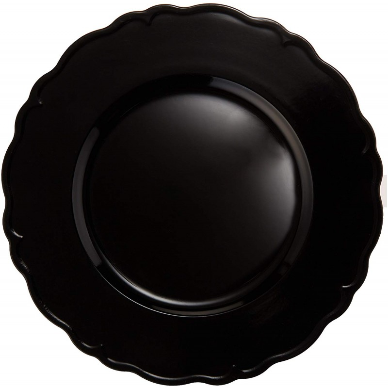 ChargeIt by Jay Regency Charger Plate, Black