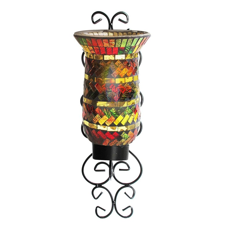 American Atelier 1330246 Mosaic Glass Wall Candle Sconce