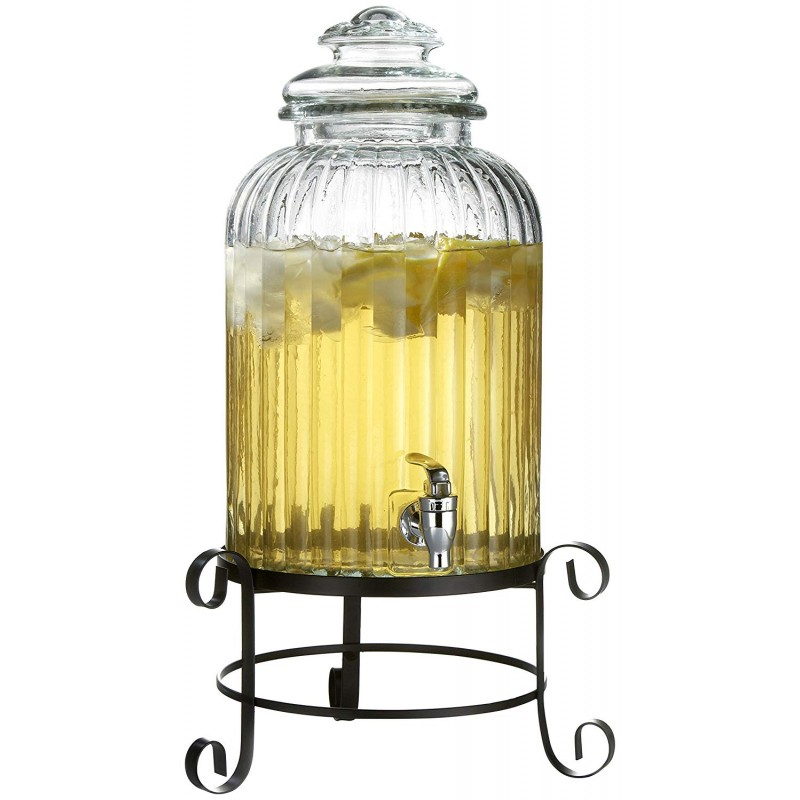Style Setter Springfield Beverage Dispenser with Stand, Clear