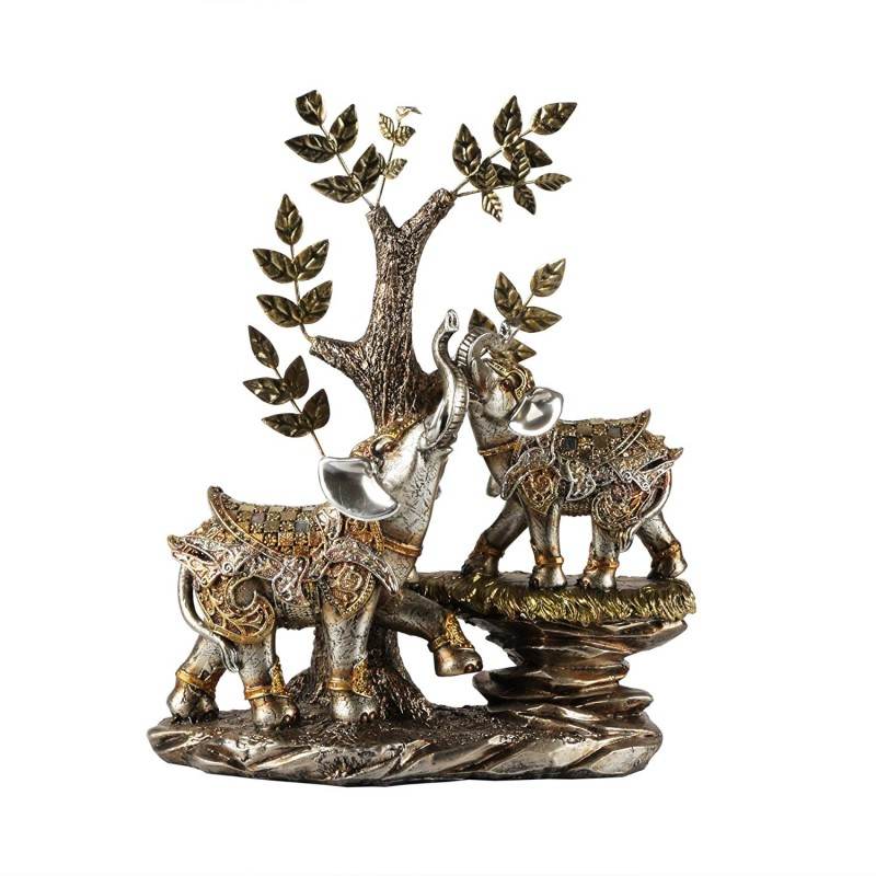 American Atelier 1521567CB Elephant Figurine with Tree