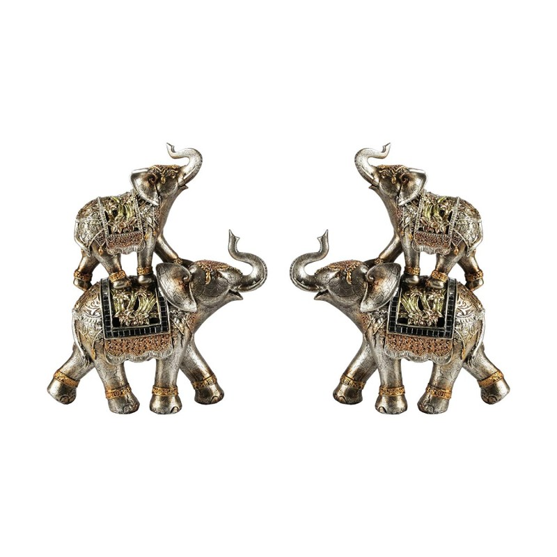 American Atelier 1521566CB Set of 2 Stacked Elephant Figurines