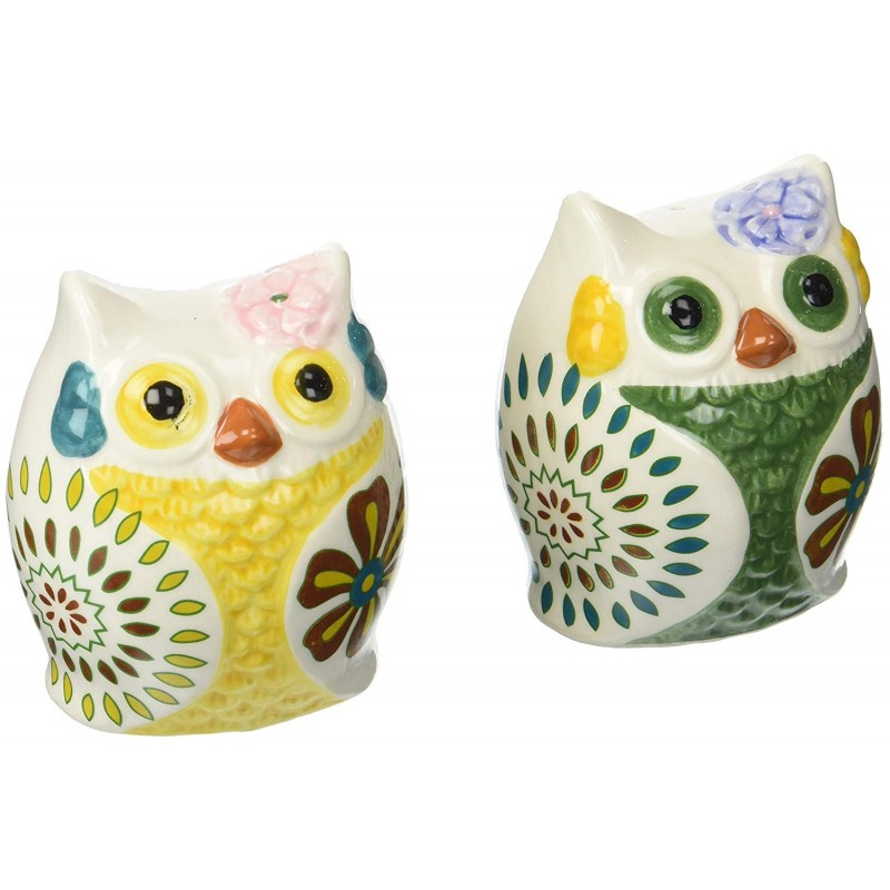 American Atelier Owls Salt & Pepper Shakers, Multi