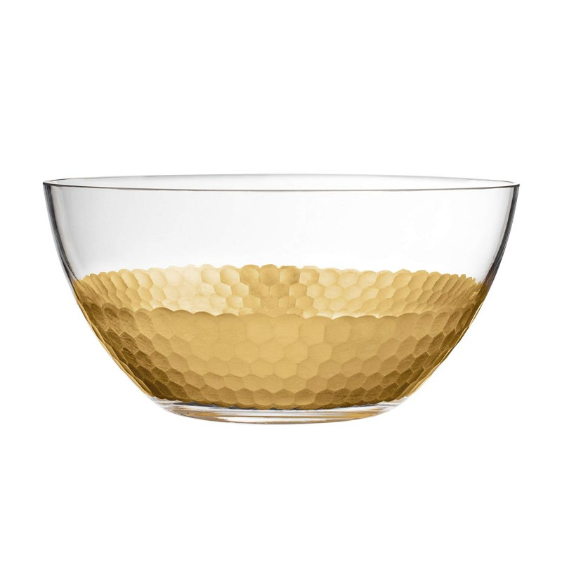 "Fitz and Floyd 201705-B8-GB Daphne Serving Bowl, 8.9"" x 8.9"" x 4.3"", Gold"