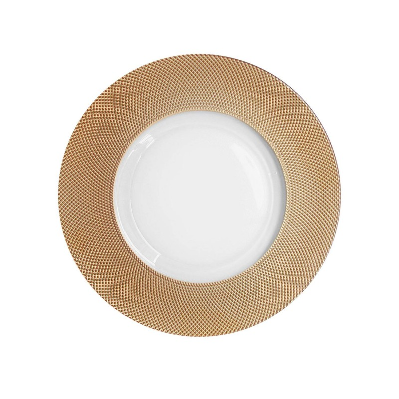 ChargeIt by Jay Cara Glass Charger Plate, Copper Rim