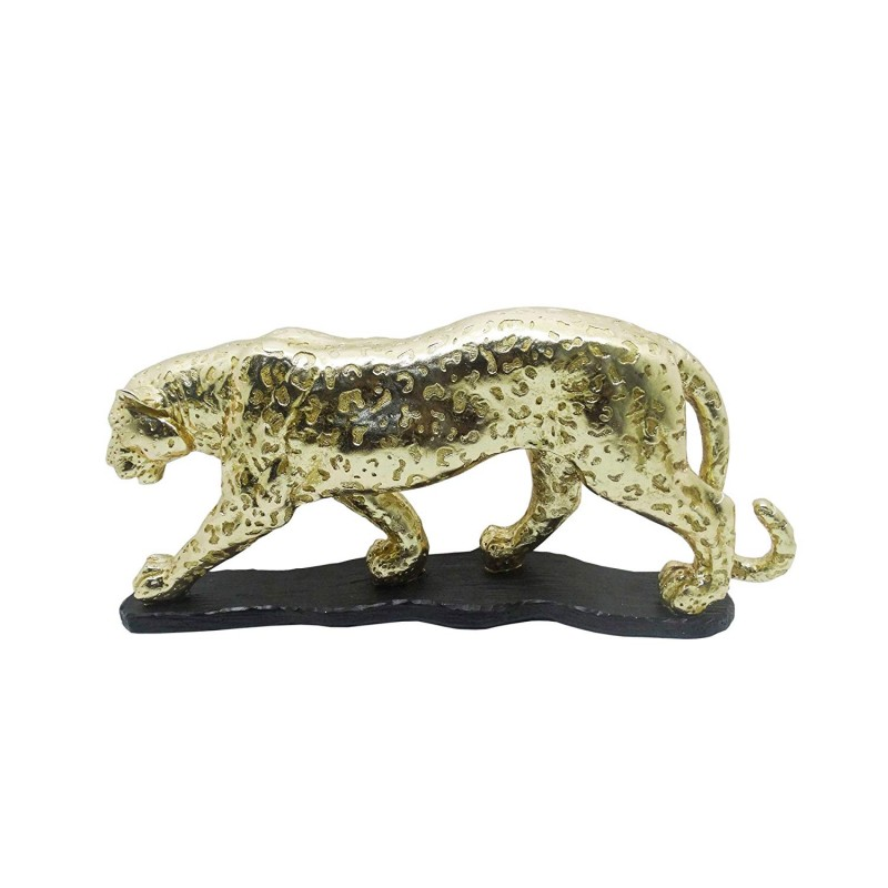 American Atelier Figurine Leopard, Gold with Black Base