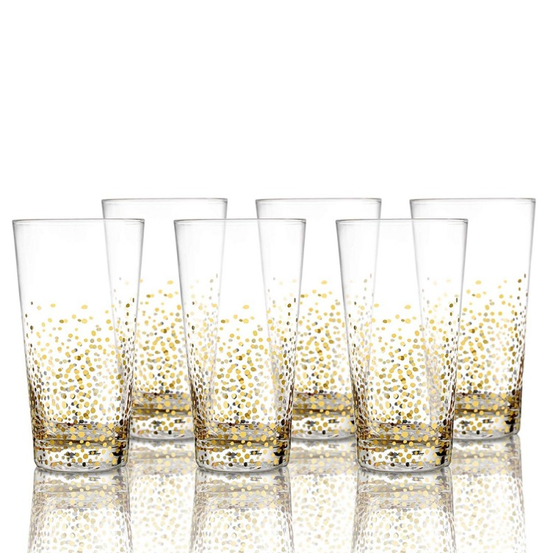 Fitz and Floyd 229700-6HB Luster Highball Set of 6 - Gold