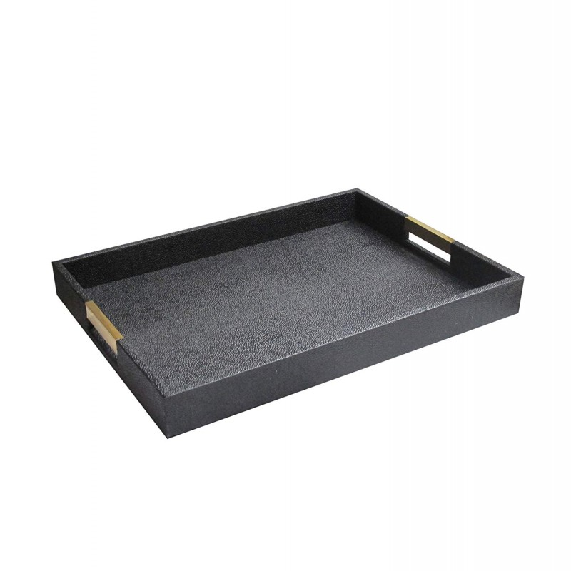American Atelier 1630053 Serving Tray, Black, 14 x 19 x 2