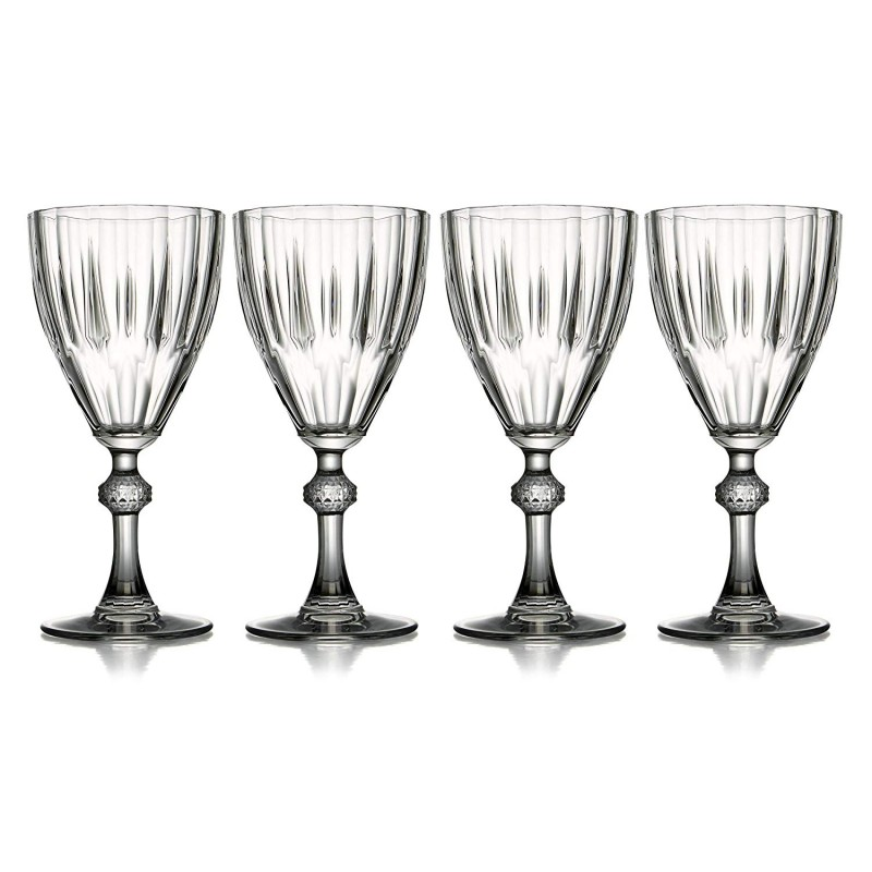 "Fifth Avenue Crystal 229654-ap-gb Reflections All Purpose Glasses (Set of 4), 3 x 7"", Clear"