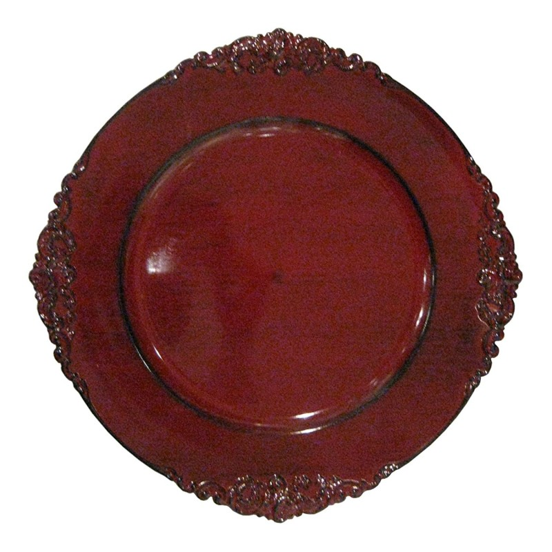 ChargeIt by Jay Leaf Charger Plates (Set of 4), Red