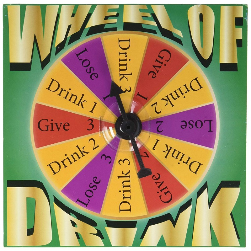 Game Night Wheel of Drink Shot Glass Board Game Set, Multicolor