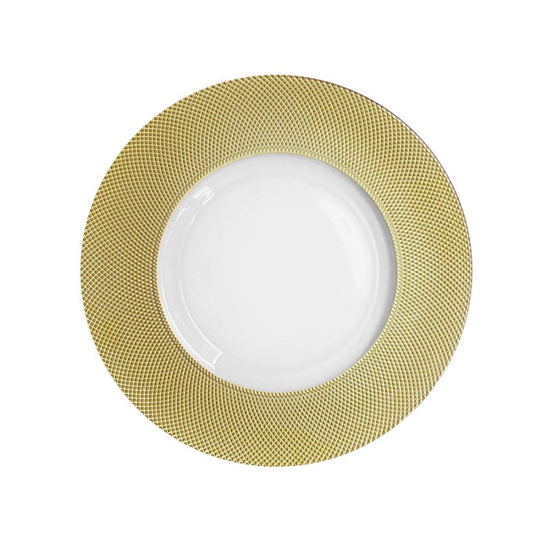 ChargeIt by Jay Cara Glass Charger Plate, Gold Rim