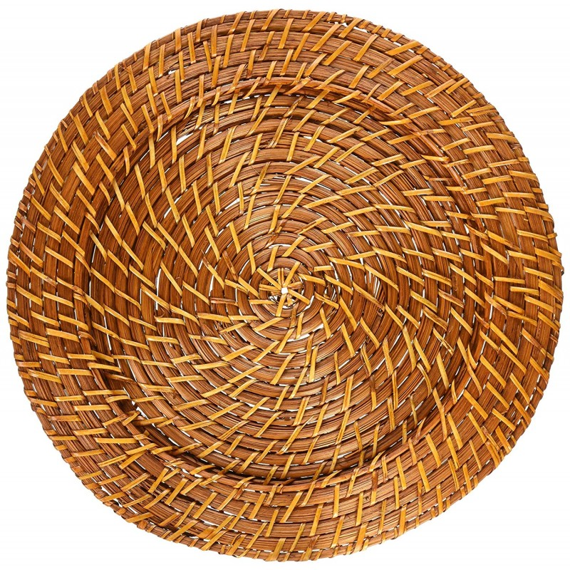 ChargeIt by Jay Harvest Round Rattan Charger Plate