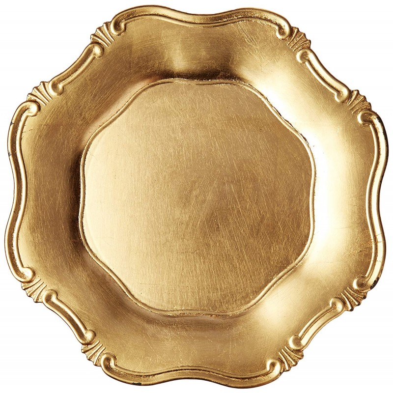 ChargeIt by Jay Baroque Gold Charger Plate