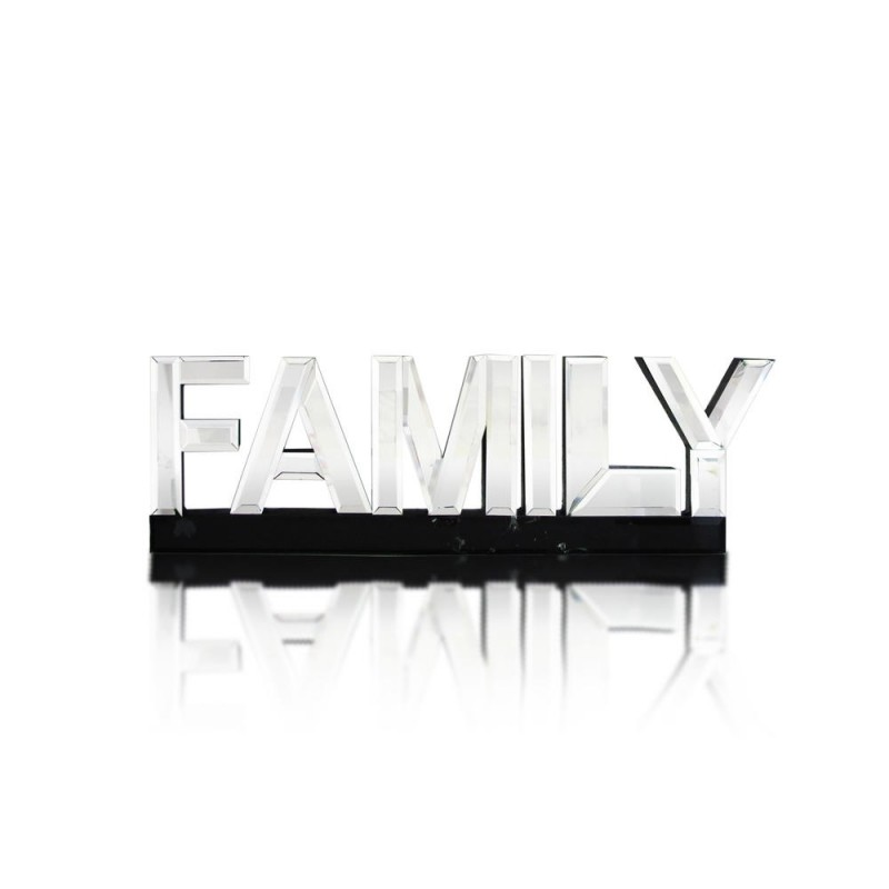 "American Atelier Mirror Word Art ""Family"""