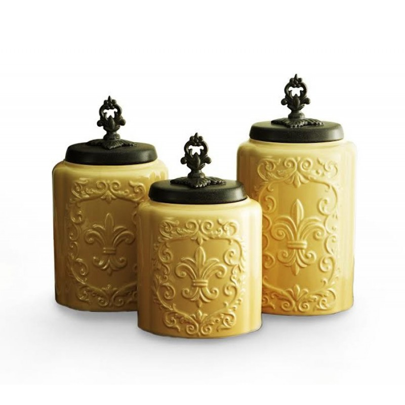 American Atelier Antique Set of 3 Canisters